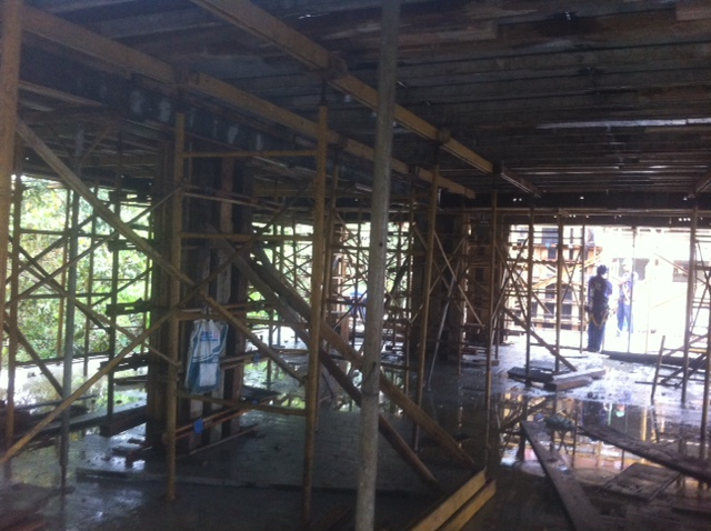 Montagem da Laje do teto do 2º pavimento tipo - Bloco 01 Out/16