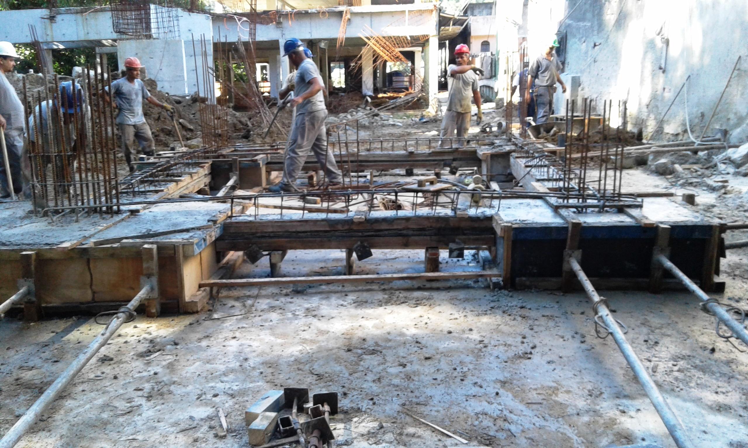 Concretagem fundação Bloco 01 - Jun/2016