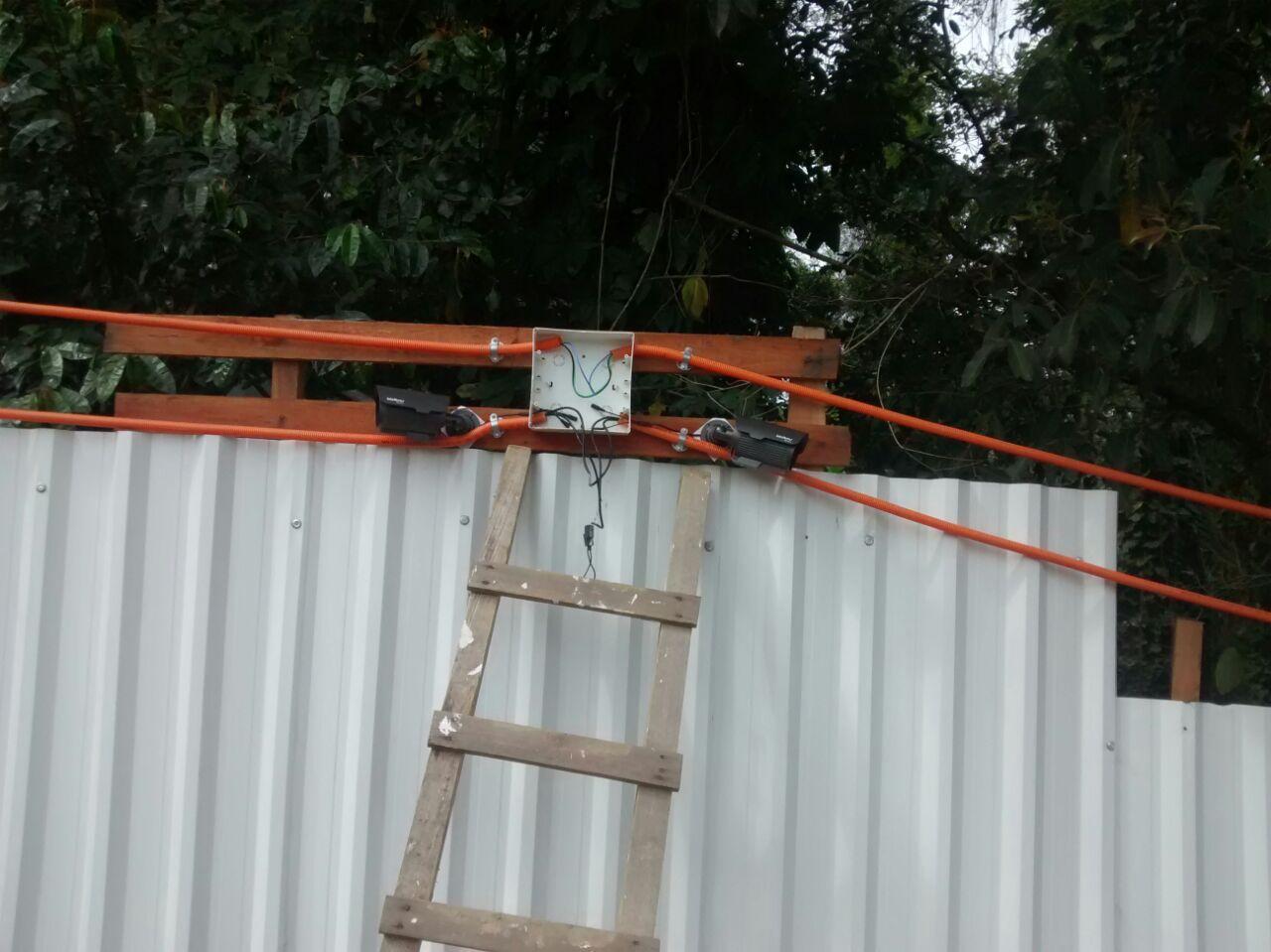 Instalação de Câmeras de Segurança da Obra - Setembro/2014