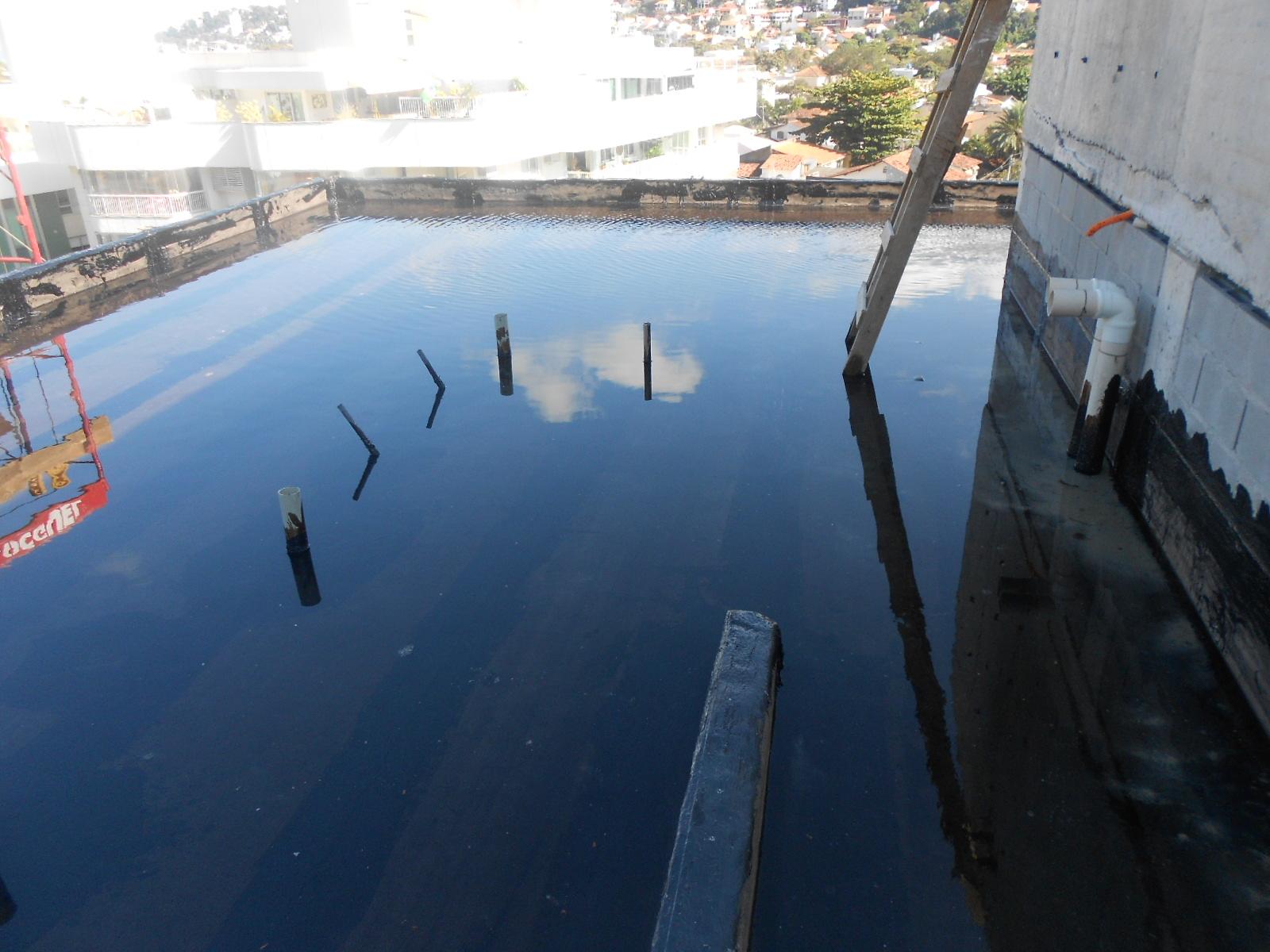 Teste de Impermeabilização Cobertura e Caixa d'água - SET 14